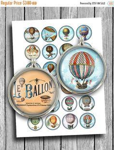 """В продаже воздушный шар цифровой коллаж лист для печати скачать 1.5"""" 30мм 25мм 1"""" круг изображений для Кабошонов, подвески мгновенная Загрузка"""
