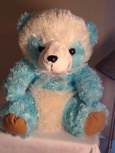 "Puli International Plush Stuffed Animal Blue/White Adorable Bear 13"" #PuliInternational"