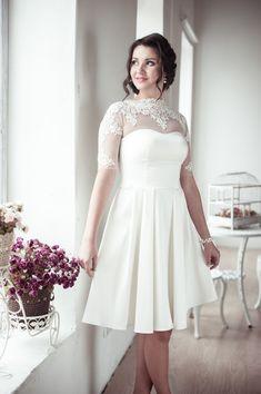 A-line short wedding dress M12 by ApilatCreativeAtelie on Etsy