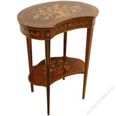 Sheraton Style Kidney Shaped Occasional Table - Antiques Atlas