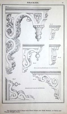 Woodworking Dominion Mouldings, This is one of the earliest woodwork catalogs in the Building Technology Heritage Library. The original catalog is in the collection of the Canadian Centre for Architecture. Indian Temple Architecture, Gothic Architecture, Classical Architecture, Architecture Details, Historical Architecture, Ornament Drawing, Tanjore Painting, Architrave, Carving Designs