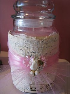 Musings from Kim K.: Give-away with a twist! Shabby Chic Candle