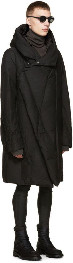 Julius: Black Down Coat | SSENSE