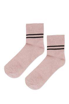 Socquettes brillantes style sport 5