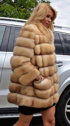 Russian Golden Sable Fur Coat