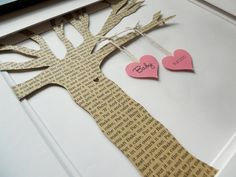 Baby Nursery Art, Custom Paper Tree , Baby Shower Gift, Home Decor, Nursery Decor - Framed