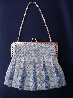 Bead knit purse for wedding or formal event.  Classy.