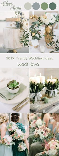 2019 color trends in Silver sage wedding ideas #weddings silver sage weddings |silver sage wedding ideas |sage wedding | sage wedding colors |