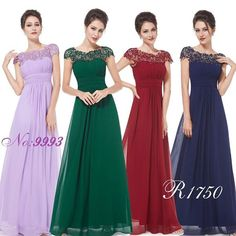 Colorful Chiffon Lace Applique A-line Floor-length Bridesmaid Dresses , wedding guest dress Ball Gowns Prom, Prom Party Dresses, Formal Evening Dresses, Ball Dresses, Evening Gowns, Evening Party, Formal Dresses, Wedding Dresses, Bridesmaid Dresses Online