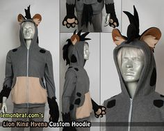Hyena Custom Hoodie! by lemonbrat.deviantart.com on @DeviantArt