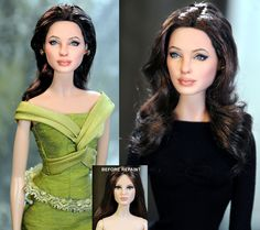 Noel Cruz and his astonishing doll repainting. Just...wow! Angelina Jolie <3