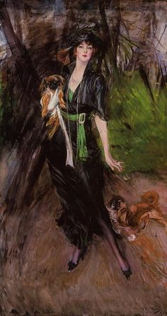 Giovanni Boldini Portrait of a Lady, Lina Bilitis, with Two Pekinese oil painting for sale; Select your favorite Giovanni Boldini Portrait of a Lady, Lina Bilitis, with Two Pekinese painting on canvas or frame at discount price. Giovanni Boldini, Italian Painters, Italian Artist, John Singer Sargent, Pekinese, Fu Dog, Illustration Art, Illustrations, Dog Art