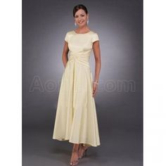 tea length bridal dresses with sleeves - Google Search