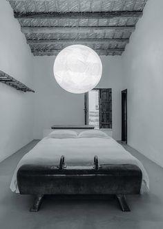 Japanese paper pendant lamp MOON by DAVIDE GROPPI design Davide Groppi