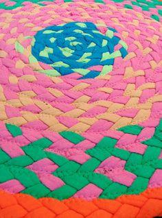 Funky & Bright Neon Braided Rug by LikeIguana