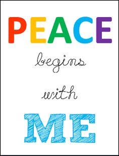 Peace {free printables}