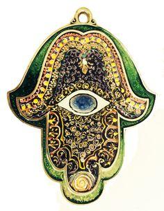 Hamsa Stained Glass   Evil eye handmade by IrinaSmilansky on Etsy