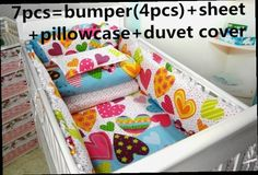 42.80$  Watch now - http://ali80j.worldwells.pw/go.php?t=32462586247 - Promotion! 6/7PCS Bedding set Baby bedding set Baby bed set bedding Crib bumpers  ,120*60/120*70cm