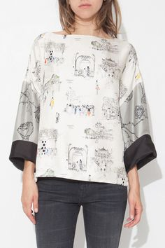 Darnel Paris Print Chanchan Top by La Prestic Ouiston | shopheist.com