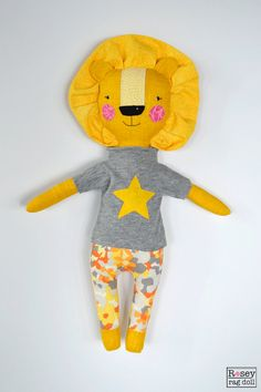cecil the lion lion doll rosey rag doll by roseyragdoll on Etsy