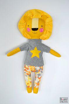lion rag doll: Rory rosey rag doll modern by roseyragdoll on Etsy