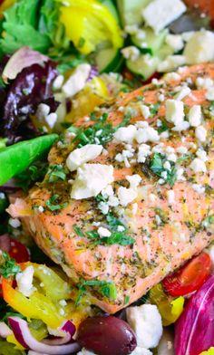 Baked Greek Salmon Inspiration
