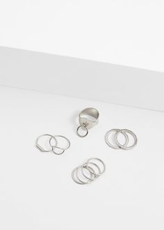 Metal ring set - Jewellery for Woman | MANGO United Kingdom