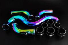 Weapon-R® - Neo-Ti Finish Intercooler Pipe Kit Item# 560902 $395.00 Wrx Mods, Chrome Cars, Car Parts And Accessories, Honda Civic Ex, Car Goals, Drifting Cars, Rx7, Diy Car, Car Engine