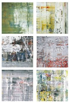 Cage paintings by Gerhard Richter