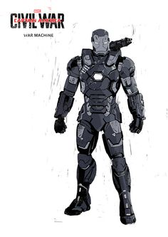 "Captain America: Civil War ""War Machine"" by Ben McLeod Marvel Comic Universe, Batman Universe, Marvel Art, Marvel Heroes, Marvel Avengers, Avengers Characters, Comic Book Characters, Marvel Captain America, Tony Stark"