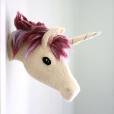 Here's some magic for your Monday. Make believe comes to life in a needle felted unicorn crafted by @sheepcreekstudio.