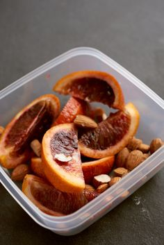 1 blood orange with 20 raw almonds (Men: 40 almonds). | Day 4 Of BuzzFeed's 7-Day Clean Eating Challenge