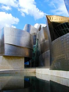 Guggenhiem 2 Bilboa Spain.      Opening in 1997 and instantly hailed as the most important structure of its time, Frank Gehry's Guggenheim Museum Bilbao is a spectacular work of architectural art and challenges our assumptions about the connections between art, architecture, and collecting.