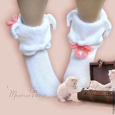 Купить Котейко. Носки вязаные, шерстяные, подарок ручной работы - Носки шерстяные, носки вязаные