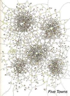 "Print - ""Five Towns (Cityspace 85)"" - Imaginary Cartography"