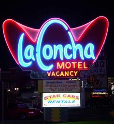 La Concha Motel closed in 2004, but the sign and part of the entrance has been save!