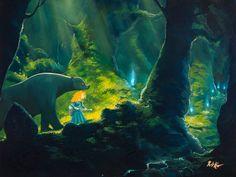 The Art Of Animation, Rob Kaz Merida and her mother the Bear in Walt Disney Pixar movie Brave Anna Cattish, Otto Schmidt, Samurai Jack, Marvel 3, Studio Ghibli, Will O The Wisp, Walt Disney Pixar, Mickey Mouse, Digital Paintings
