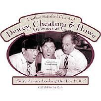 "Three Stooges ""Dewey Cheatum & Howe"" NEW T Shirt S M L XL 2X 3X 4X 5X *Free Shipping*"