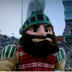 Sparty Bunnon - The trophy has return to MICHIGAN STATE UNIVERSITY2013  #goGreen #msu