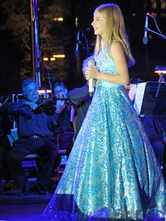 """""""12-Year-Old Jackie Evancho Sang for Everyone's Supper at Klyde Warren Park Donor Dinner"""" via dmagazine.com"""