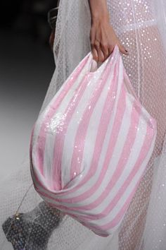 Pink striped bag #Ashish #Details S/S '14
