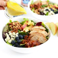 Chopped Chicken Salad with Creamy Honey Mustard Dressing- the perfect salad to share on game day!