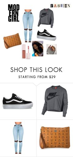 """G L A M"" by amariiae on Polyvore featuring Vans, NIKE, WithChic, MCM and Puma"