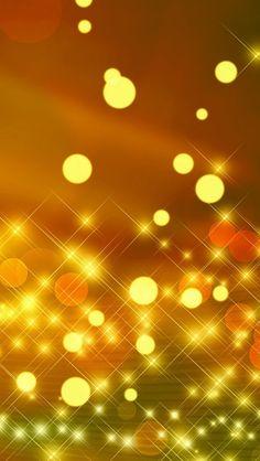 Yellow Gold Bokeh Glow iPhone Wallpaper
