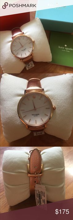 Kate Spade Rosegold Leatherband Watch When someone asks you for the time, flash your wrist with this Kate Spade rosegold leatherband watch. Never been worn, not even to try on. Price is firm. kate spade Accessories Watches
