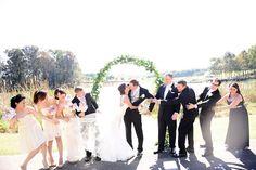 Wedding group photo, bridal party, beautiful wedding