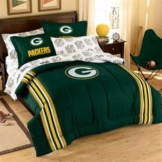 Green Bay Packers 7-Piece Full Size Bedding Set