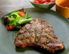 Cooking Italy: Bisteca Fiorentine-T-Bone Steak, Florentine Style from Spinach Tiger