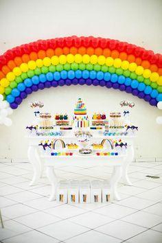 Rainbow Birthday Party via Kara's Party Ideas
