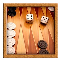 Backgammon It is one of the oldest board games known. It is a 2 player game where playing pieces are moved according to the roll of dices, and the player wins by removing all of his pieces from the board before their opponent. Backgammon involves a combination of strategy and luck (from rolling dice). While the dice may determine the outcome of a single game, over a series of many games, the better player will accumulate the better record, somewhat like poker.